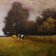 un déjeuner sur l'herbe - acrylique sur bois - 48x47 cm - 2006 - M.Pavlïn