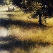 ombres fruitiers - acrylique sur bois - 45x30,5 cm - 2004 - M.Pavlïn