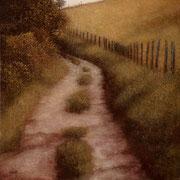 Chemin - acrylique sur bois - 45x45 cm - 2004 - M.Pavlïn