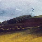 Vallée de la Dhuys- acrylique sur bois- 27x37 cm - 2003 - M.Pavlïn