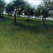 le pré - acrylique sur bois - 31x40 cm - 2002 - M.Pavlïn