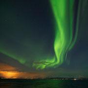 Polarlicht über den Vesterålen, Norwegen. Februar 2013 © Robert Hansen