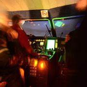 Cockpit eines Linienbootes, Svartskard, Norwegen. Februar 2013 © Robert Hansen