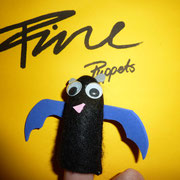 Fingerpuppe Fledermaus