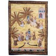 """Seidenmalerei """"PITCHWAY"""", aus dem Lebensziklus von Radha und Krishna, Indien, Mitte 20. Jhdt"""