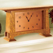 WOOD Magazine Mantel Clock w/copper dial Plan & Parts