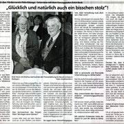 Bericht Schwäbische Zeitung - Preis Stiftung Entwicklungszusammenarbeit - Erich Reck