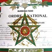 Verleihung Orden Burkina Faso
