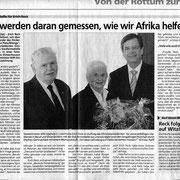 Bericht Schwäbische Zeitung - Staufermedaille Erich Reck