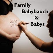 Family, Babybauch und Babys