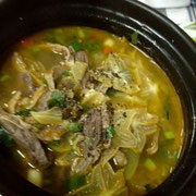 Young beef stew with star fruit