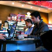 arbeiten im Cafe ist völlig normal