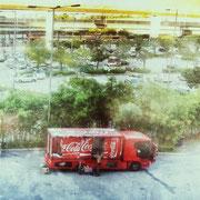 Coca Cola Mann in Hongkong