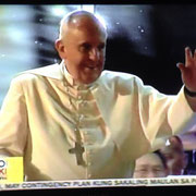 ich glaub auch der Papst war beeindruckend von den Menschenmassen