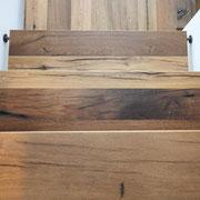 Treppenstufen Eiche Altholz