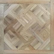 Tafelparkett Versailles 15/4 oder 20/6 x 1.000 x 1.000 mm, Mehrschichtparkett, Rustic-Sortierung, Eiche Hartwachsöl