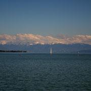 Alpenpanorama in Friedrichshafen
