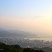 日本平より、駿河湾。