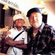Gian Butturini in Chapas con un piccolo Zapatista.