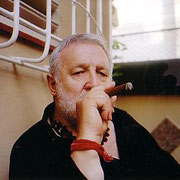 Gian Butturini ed il suo amato sigaro cubano - Brescia 2004