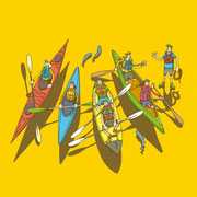 NEW OUTDOOR HANDBOOK「カヌー&カヤックを楽しむ」(地球丸)用カバーイラスト