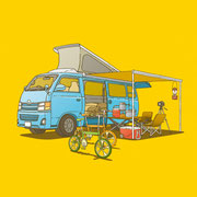 NEW OUTDOOR HANDBOOK「車中泊の疑問解決集」(地球丸)用カバーイラスト