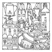 「別冊PEAKS キャンピング ギア ガイド」(枻出版社)用イラスト「EAT」