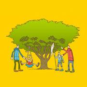 NEW OUTDOOR HANDBOOK「子どもと楽しむ野外遊び」(地球丸)用カバーイラスト
