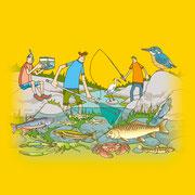 NEW OUTDOOR HANDBOOK「楽しい川遊び」(地球丸)用カバーイラスト