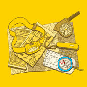 NEW OUTDOOR HANDBOOK「読図の基本がわかる本」(地球丸)用カバーイラスト