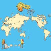 「別冊PEAKS クライムオン」(枻出版社)「憧れの海外岩場」用イラスト
