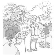「夏山2017(岳人7月号別冊)」夏の日本アルプスを歩くために知っておきたい5つの基礎知識 用イラスト