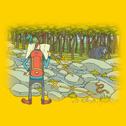 NEW OUTDOOR HANDBOOK「野外危機管理マニュアル」(地球丸)用カバーイラスト
