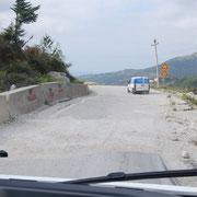 Straße logora Pass