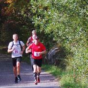 Ledarkvartett efter ca 10km på 20km sträckan. Nr.9 Krister Ekelund, Nr.25 Fredrik Halldin, Nr.9 Jonas Lindh, Nr.14 David Pettersson.