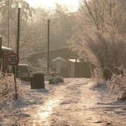 Winter im Bootsschuppen 1.2.15