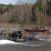 Boot im Winter aus dem Norden abholen.Foto:Sjur G. Hasselgård