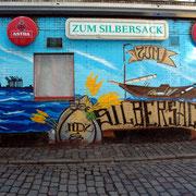 Wandbemalung Silbersack, Hamburg, St. Pauli
