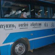 Bus von Bangkok nach Aranyaprathet.