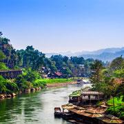 Reise nach Kanchanaburi in Zentralthailand.