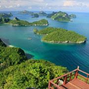 Der thailändische Nationalpark besteht aus 42 Inseln.