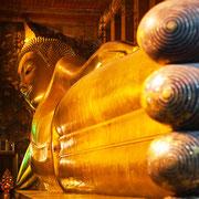 Der Wat Pho - liegender Buddha