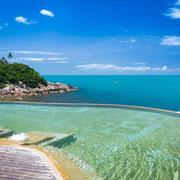 Luxusresorts mit Blick aufs Meer.