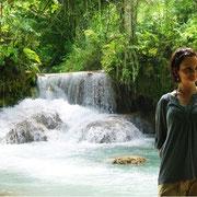 Malerische Wasserfälle unweit von Luang Prabang