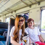 Zug fahren Thailand