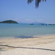 Koh Mak bietet ruhige Strände - sehr zu empfehlen für einen romantischen Badeurlaub.