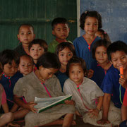 Thailändische Schule in Umphang. Wir wurden herzlich in Empfang genommen.