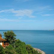 Pool Villa mit Blick aufs Meer