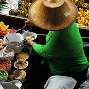 Floating Market in der Nähe von Bangkok