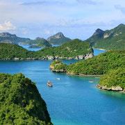 Wunderschöne Aussichtspunkte im Ang Thong.